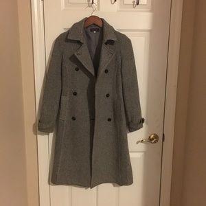 Black and White Pea Coat Size XS/S